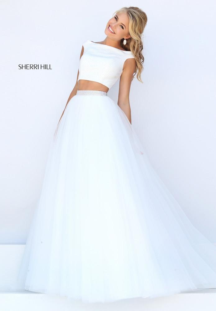 Sherri Hill White 2018