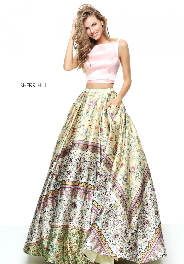 Flowered Prom Dress Sherri Hill