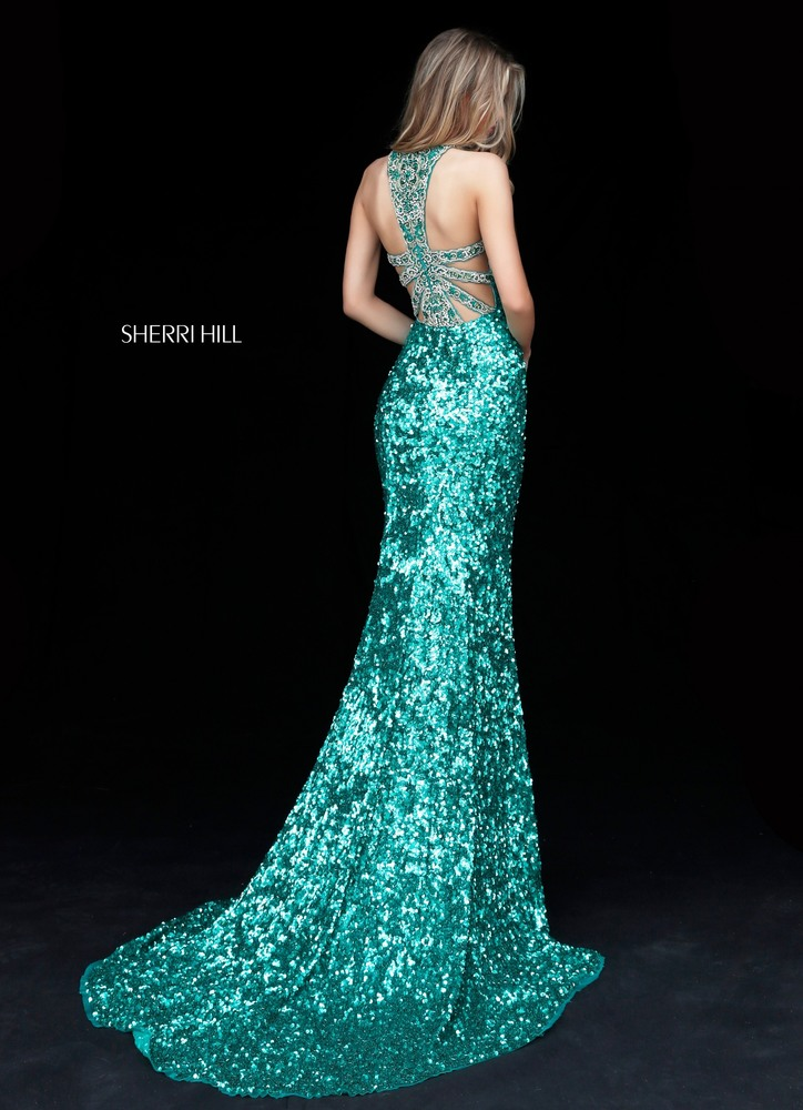 Sherri Hill Emerald Green Dress