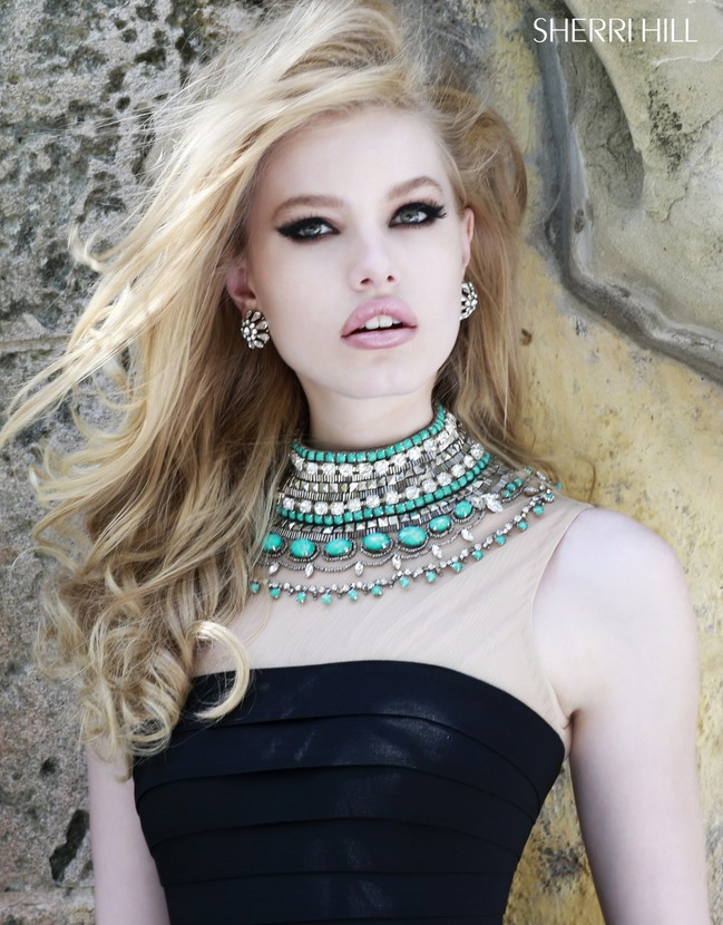 Sherri Hill 32080 | Aqua prom dress, Homecoming dresses